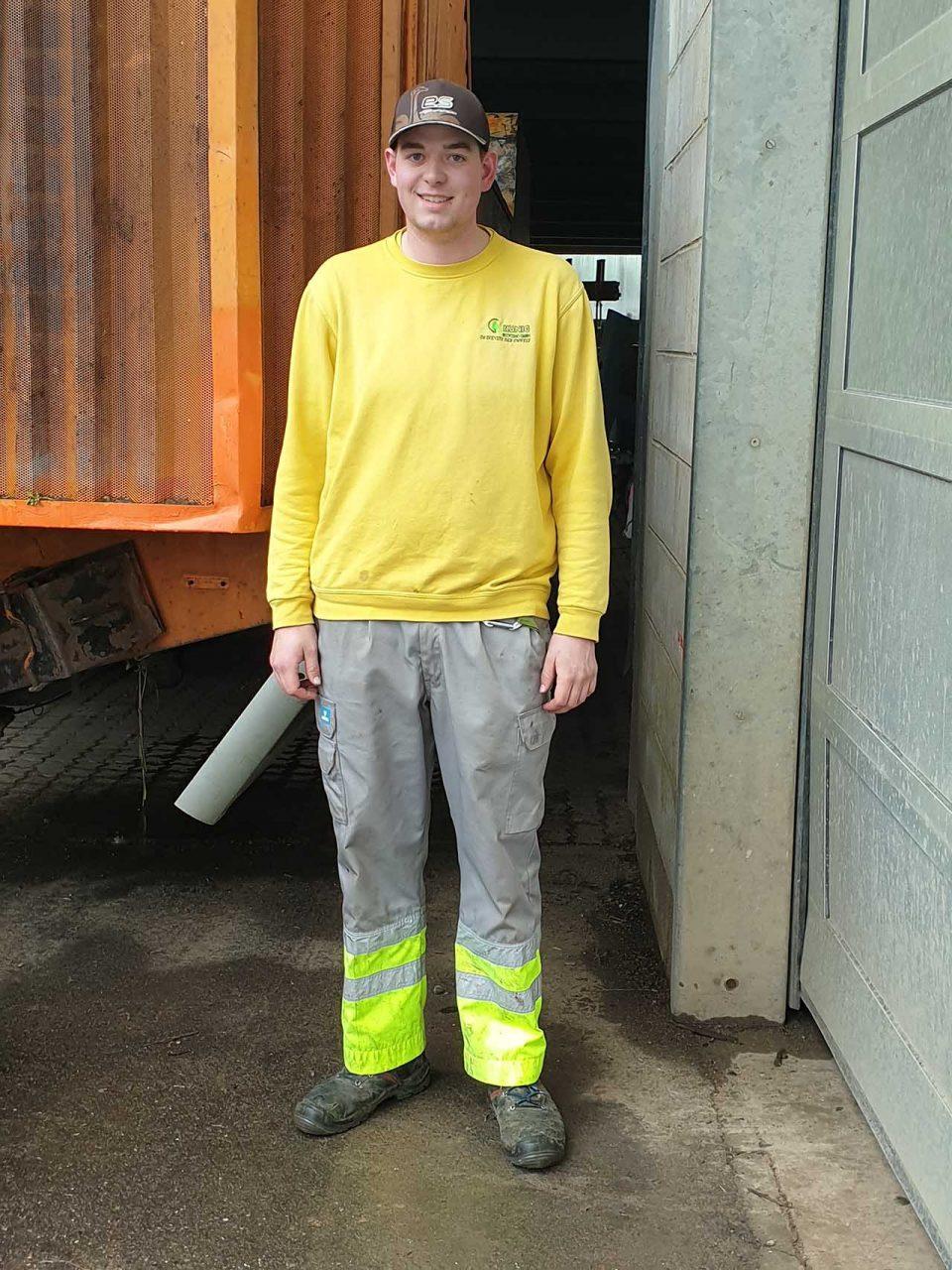 Marc Zöhner - Maschinist im Bereich Kompostierung