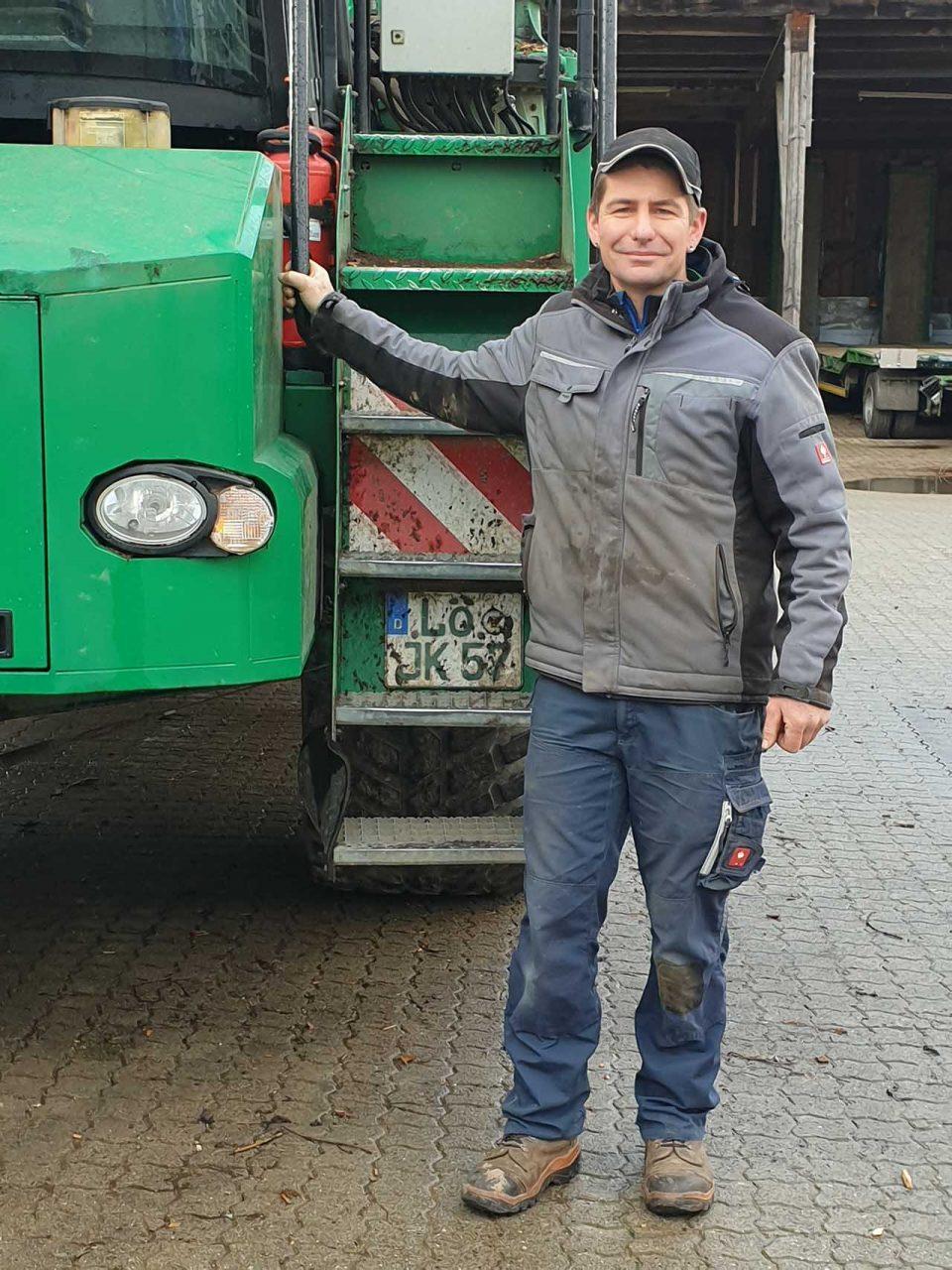 Thomas Läuger - Maschinist für die Produktion von Hackschnitzel